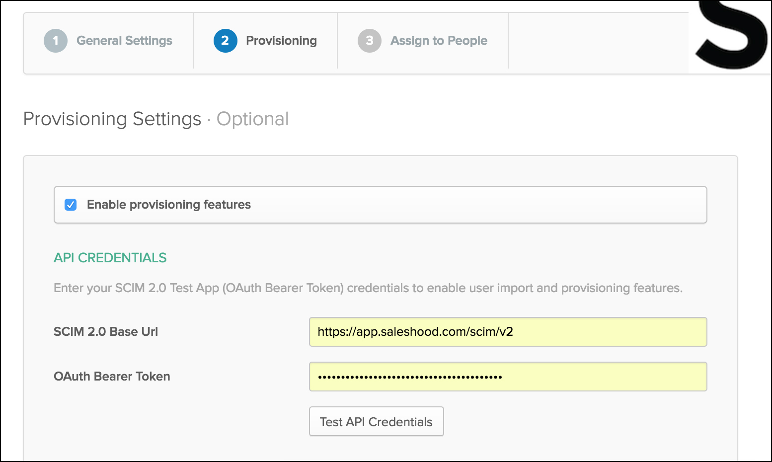 Configure Provisioning on Okta in Preview Environment – SalesHood